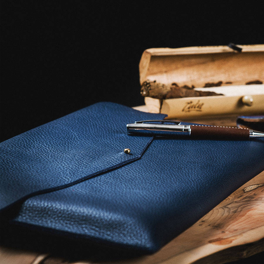 luxury leather notebook