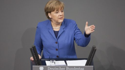 Merkel talk in bundestag