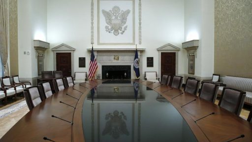 The conference table of the Federal Reserve Board of Governor is seen empty at Federal Reserve Board headquarters before new Chairwoman Janet Yellen took the oath of office in the conference room at the Federal Reserve Board in Washington