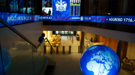 London stock exchange globe