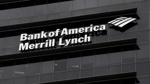Bank of America ML Logo on building