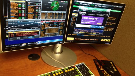 Bloomberg Terminal monitors