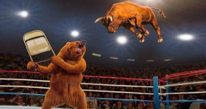 Bear smash the bull