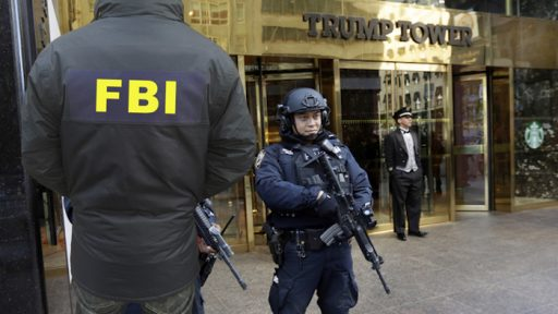 FBI a front of Trump Tower