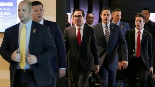 Steven Mnuchin team in China meeting
