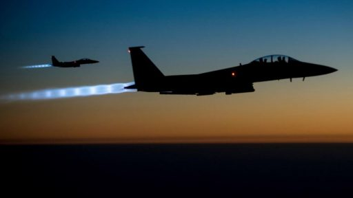 Jet Fighters at night