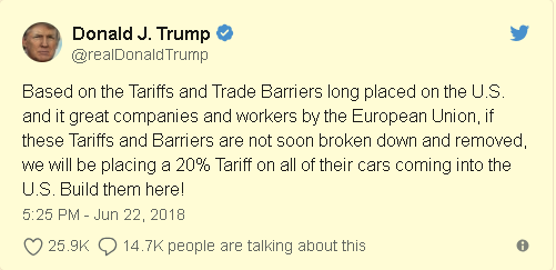 Donald J. Trump Tweet
