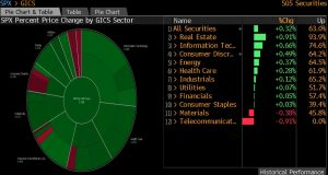 SP500 Pie Chart, Bloomberg Terminal