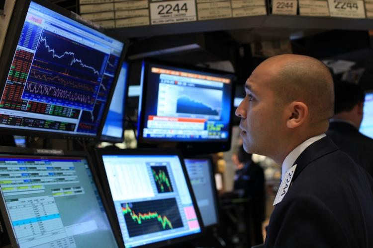 Stock Trader on NYSE floor