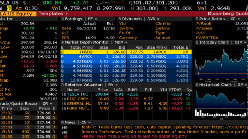 TSLA Bloomberg Quotes