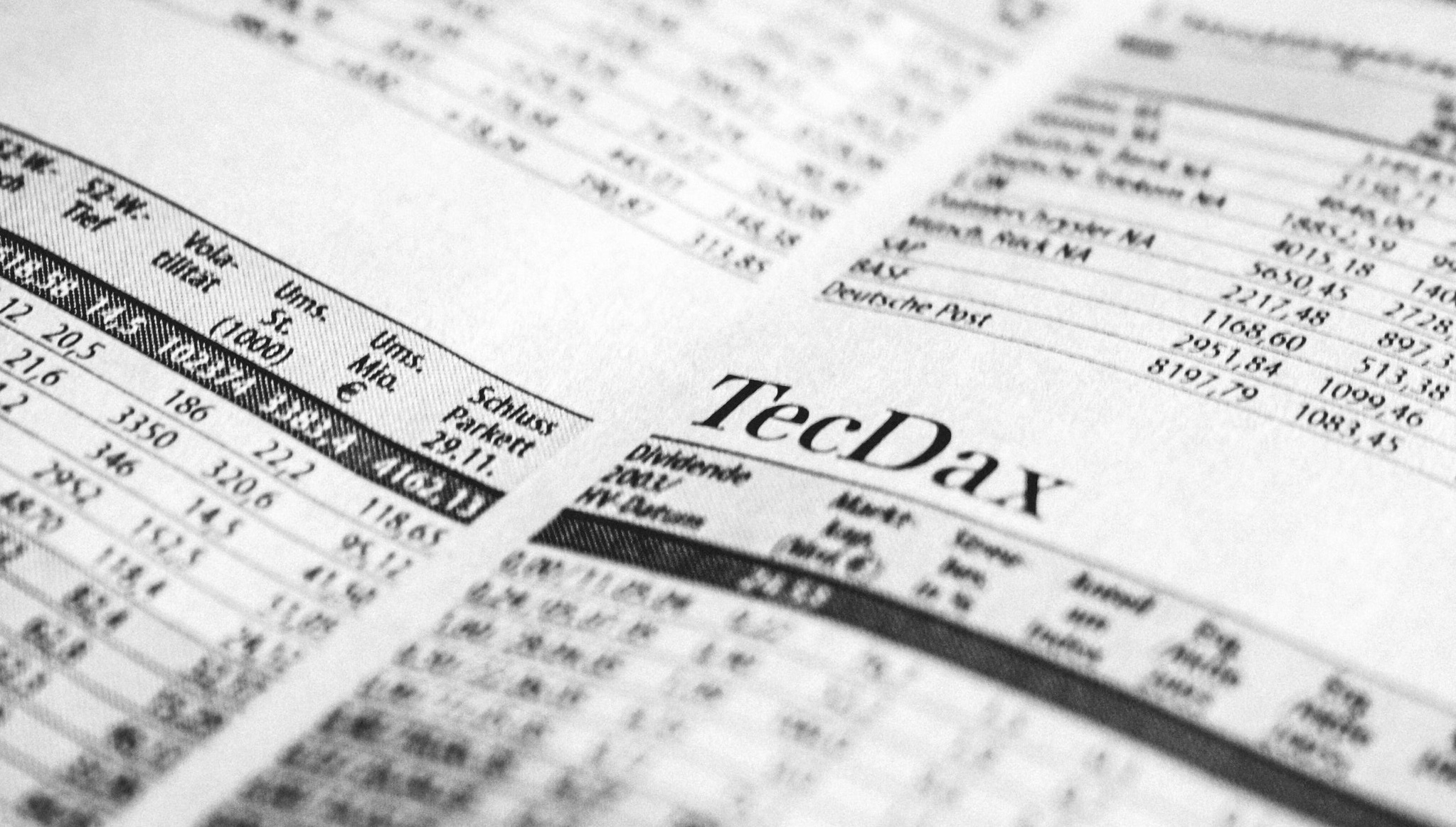 stock market quotes in newspaper